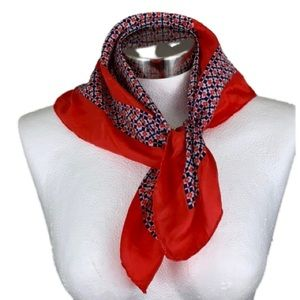 VINTAGE RED BLUE WHITE SCARF